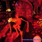 Decoracion cementerio Halloween fluor Maripocreative Uv Decor Elementos originales de Decoración para evento ,festivales presentacion de marcas y celebraciones con luz negra