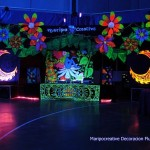 Decoracion Discomovil y cabina del Dj del Banquete boda. a cargo de Maripocreative Uv Decor