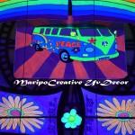 Decoracion Hippie Flower power discotecas y eventos